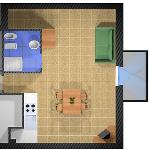 1-pokojowy 2-osobowy - plan