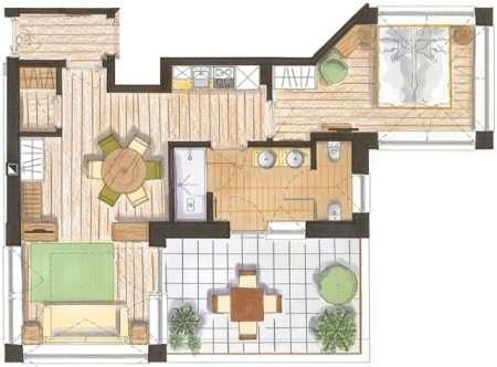 2-pokojowy 50 m2 Natura - plan