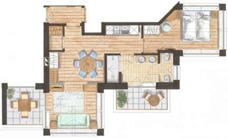 2-pokojowy 50 m2 Relax - plan
