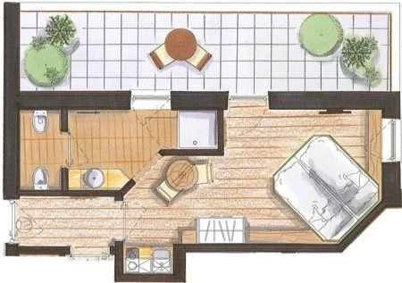 Studio 25 m2 Natura - plan