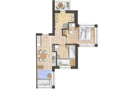 3-pokojowy 50 m2 Relax - plan