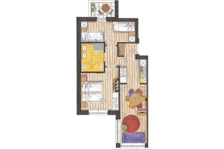 3-pokojowy 50 m2 Sport - plan