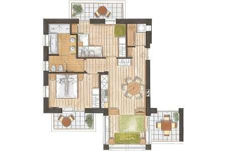 3-pokojowy 60 m2 Natura - plan