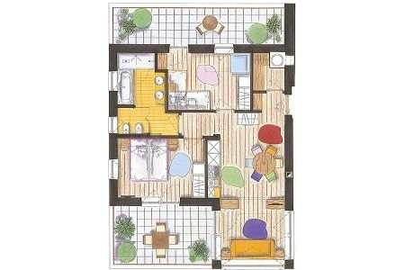 3-pokojowy 60 m2 Sport - plan