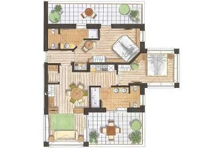3-pokojowy 70 m2 Natura - plan