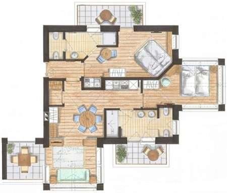 3-pokojowy 70 m2 Relax - plan