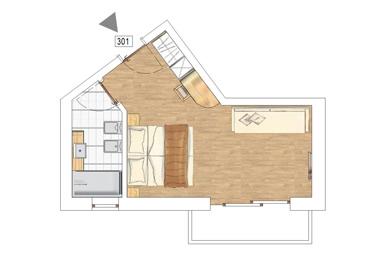 Junior Suite Mastellina plan
