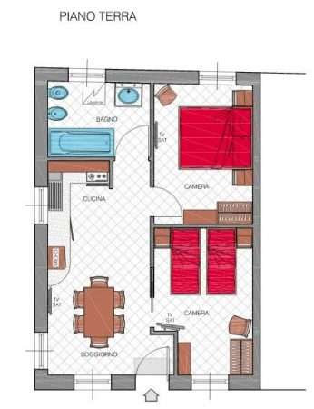 Apartament numer 2 - plan