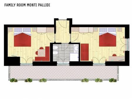 Pokój Family Suite Monti Pallidi