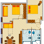 Apartament Suite 3-6 osobowy
