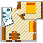 Apartament Suite 1-4 osobowy