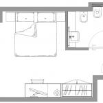 Standard bez balkonu - plan