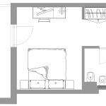 Standard z balkonem - plan