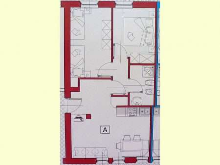 Apartament numer A - plan