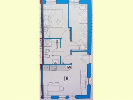 Apartament numer B - plan
