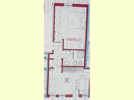 Apartament numer E - plan