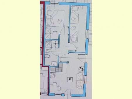 Apartament numer F - plan
