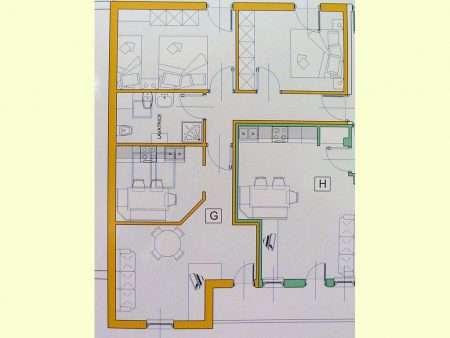 Apartament numer G - plan