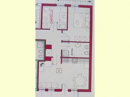 Apartament numer I - plan