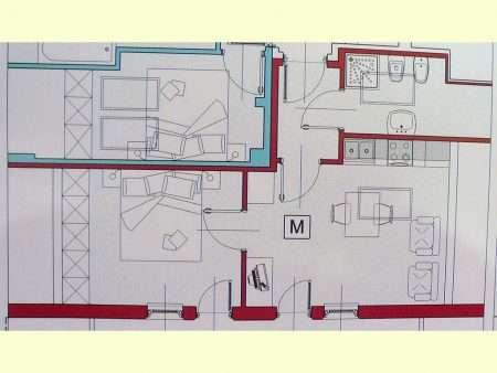 Apartament numer M - plan