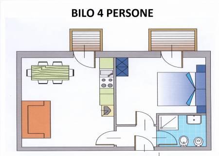 Apartament 2-pokojowy dla 4 osób