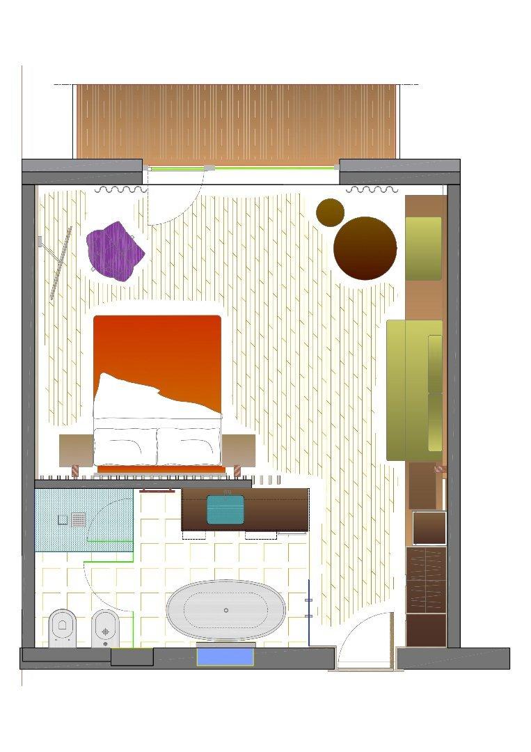 Ciampedie - pokój Junior Suite Catinaccio