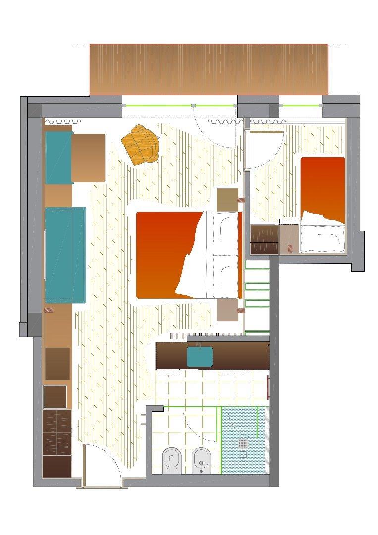 Ciampedie - pokój Marmolada