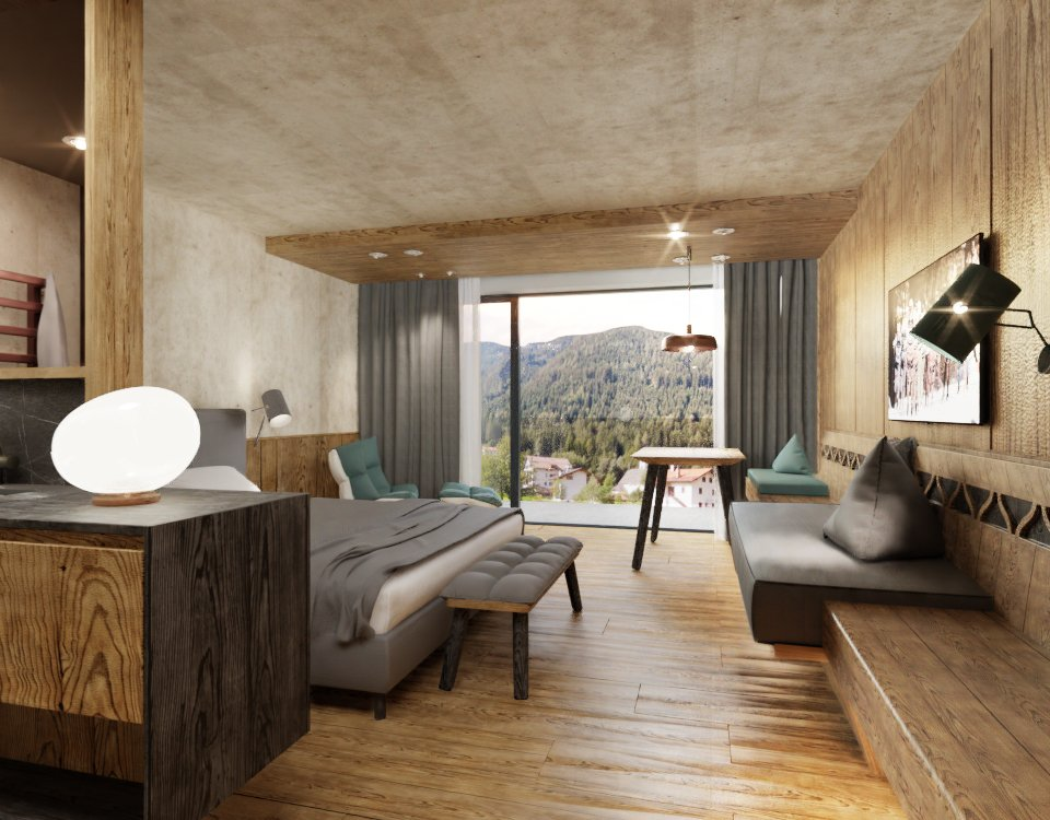 Ciampedie - pokój Junior Suite Roda di Vael